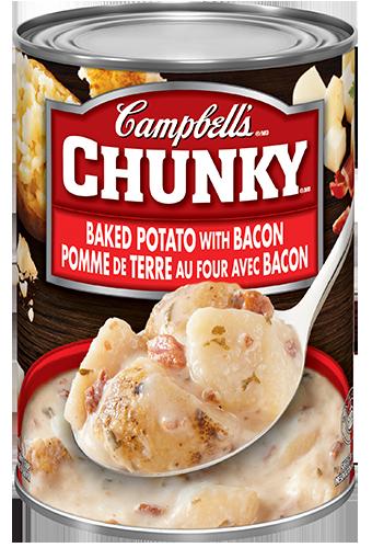 campbells chunky pomme de terre au four avec bacon 540 ml