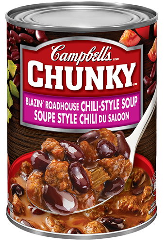 Campbell's Chunky Soupe style chili du saloon