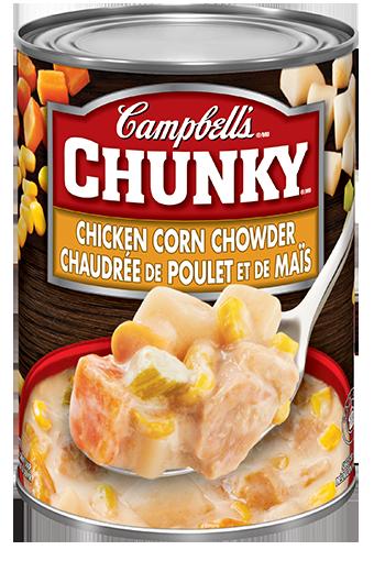 campbells chunky chaudre de poulet et mas 540 ml