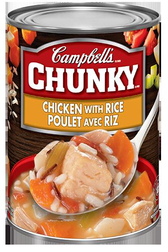 campbells chunky poulet avec riz 540 ml