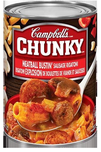 campbells chunky meatball bustin sausage rigatoni 540 ml