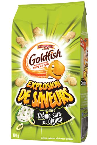 goldfish explosion de saveursmc dlire crme sure et oignon