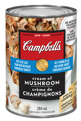 Campbell's Condensed Less Salt Cream of Mushroom soup