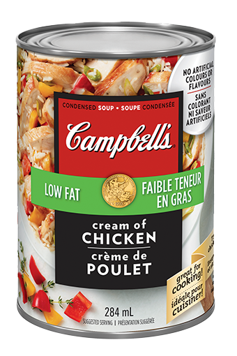 campbells condensed low fat cream of chicken